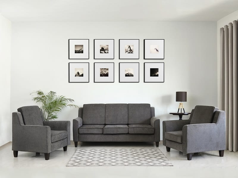 Rent Erica 5 Seater Sofa Set Furniture for Living Room - Sofa Rental